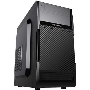 Gabinete C3Plus MT-25V2BK Micro ATX Preto - Gabinete Torre Micro ATX com Fonte 200W Suporta SSD USB 2.0 com Entrada de Áudio Padrão AC97