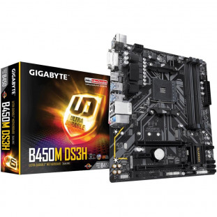 Placa Mãe Gigabyte B450M DS3H, AMD, mATX, DDR4