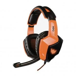 Headset Eagle 7.1 OEX HS-401 Preto/Laranja