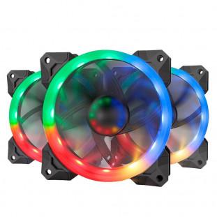 Kit Cooler Fan Redragon com 3 Unidades, RGB, 12cm - GC-F008