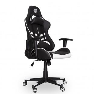 Cadeira Gamer Dazz Prime-X, Suporta até 250Kg, Reclinável, Preta/Branco
