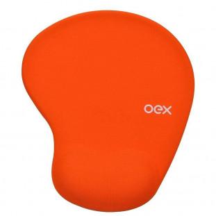 Mousepad Gel Confort OEX MP-200 Laranja