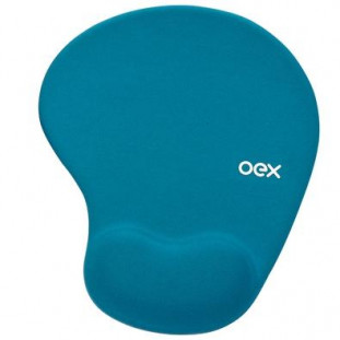 Mousepad Gel Confort OEX MP-200 Azul Turquesa