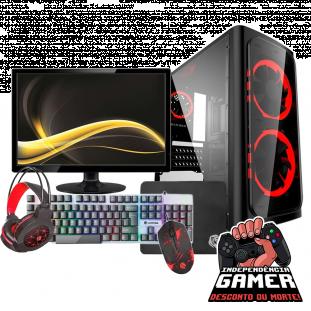 "PC GAMER DISCOVERY ATHLON 3000G / 8GB RAM / SSD 120GB C/MONITOR DE 19"" E KIT TECLADO, MOUSE, MOUSEPAD E HEADSET"